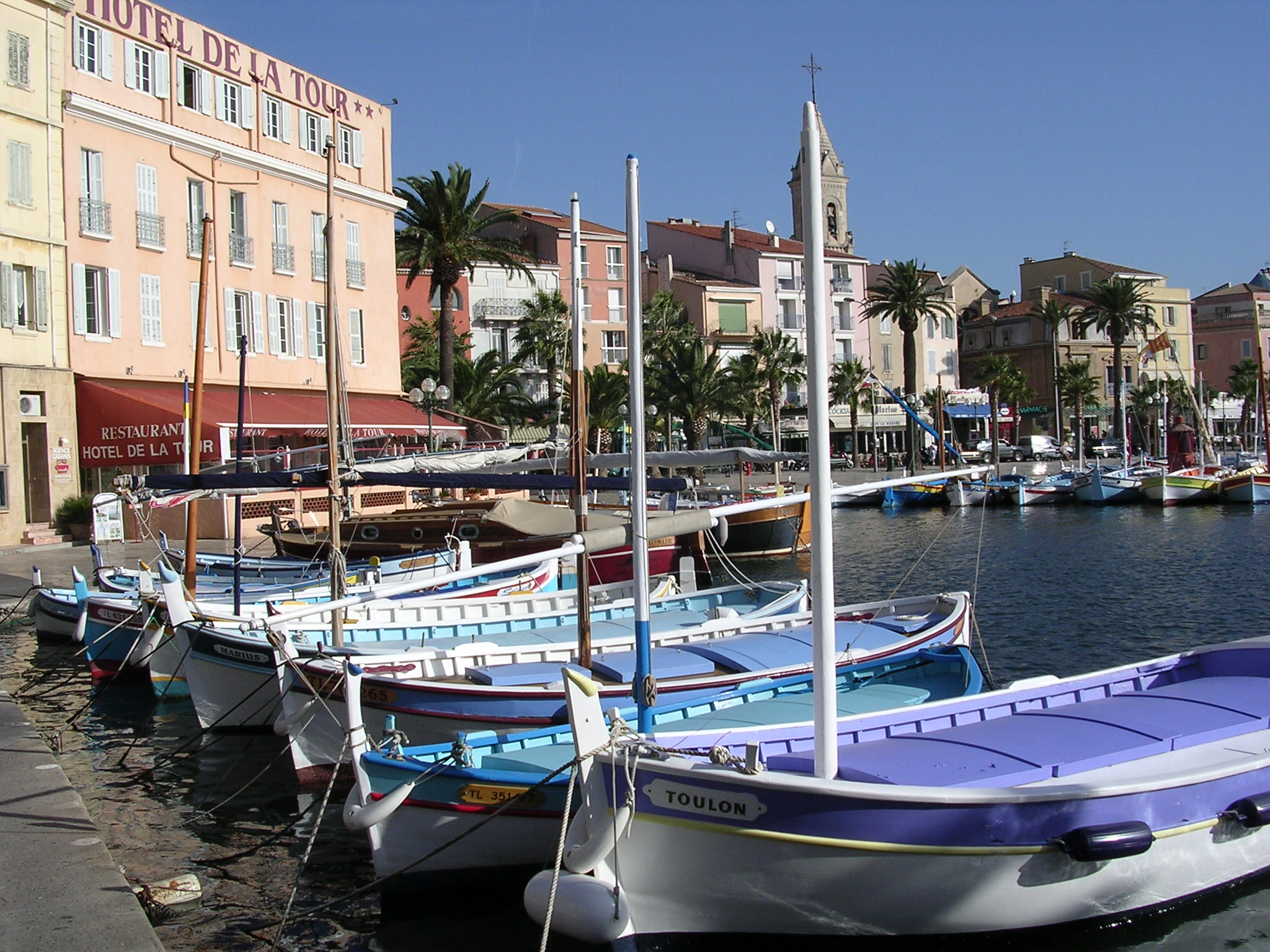 Port of Sanary-sur-mer, South of France